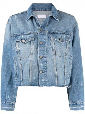 Джинсовая куртка с эффектом потертости Boyish Jeans. Цвет: синий