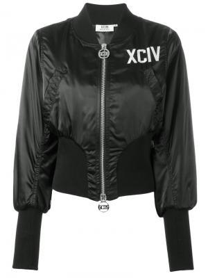 Куртка-бомбер Gcds. Цвет: чёрный