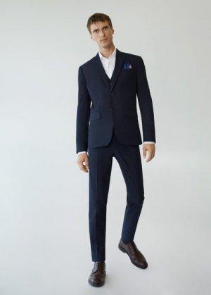 Костюмный пиджак slim fit - Brasilia Mango. Цвет: глубокий темно-синий