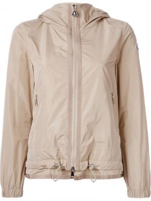 Куртка-ветровка с капюшоном Moncler. Цвет: телесный