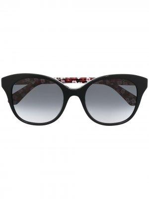 Солнцезащитные очки Bianka с цветочным принтом Kate Spade. Цвет: черный