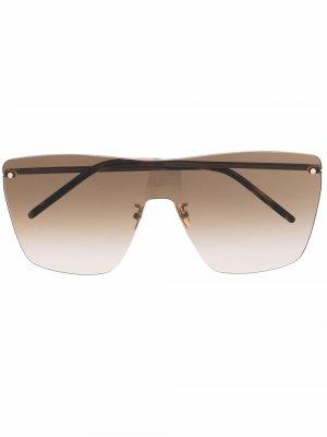 Солнцезащитные очки-маска SL 463 Saint Laurent Eyewear. Цвет: золотистый