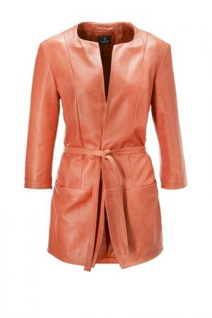 Куртка кожаная Madeleine. Цвет: orange