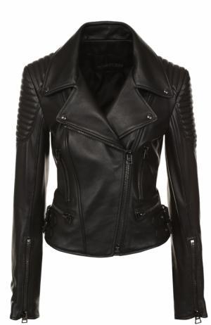 Кожаная куртка Tom Ford. Цвет: черный