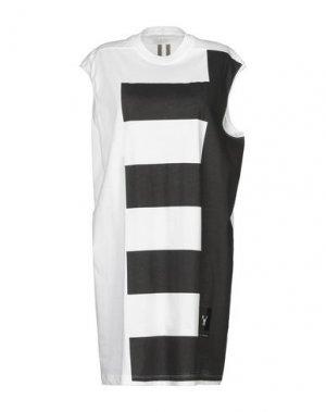 Короткое платье DRKSHDW by RICK OWENS. Цвет: белый