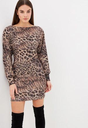 Платье Elle Land. Цвет: коричневый