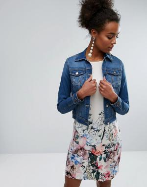 Выбеленная джинсовая куртка Lipsy. Цвет: синий