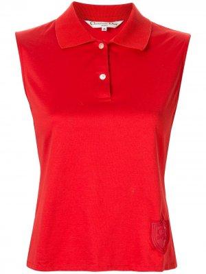 Рубашка-поло с вышивкой Christian Dior. Цвет: красный