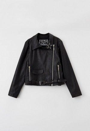 Куртка кожаная Choupette. Цвет: черный