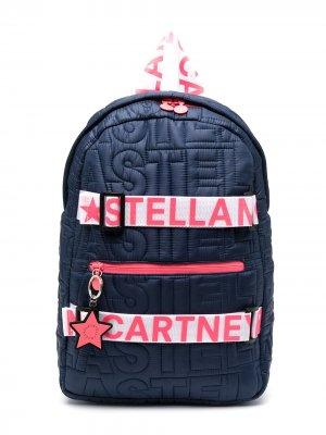 Стеганый рюкзак с логотипом Stella McCartney Kids. Цвет: синий