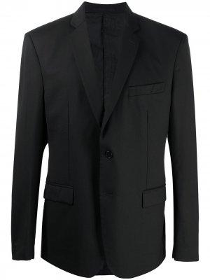 Однобортный пиджак 2000-х годов Versace Pre-Owned. Цвет: черный