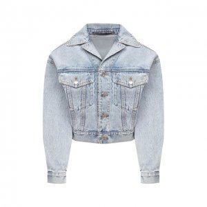 Джинсовая куртка Denim X Alexander Wang. Цвет: синий
