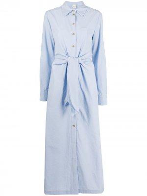 Платье-рубашка на пуговицах Alysi. Цвет: синий