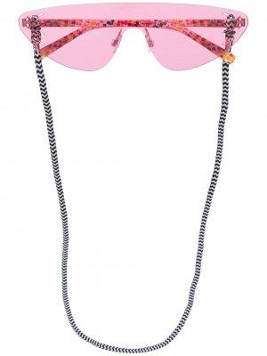 Солнцезащитные очки без оправы MISSONI EYEWEAR. Цвет: розовый