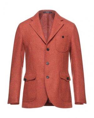 Пиджак DRUMOHR. Цвет: ржаво-коричневый