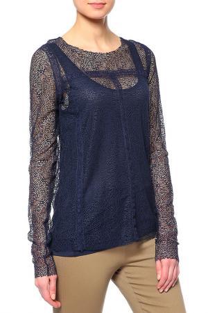 Комплект: топ и блуза Rene Lezard. Цвет: мультицвет