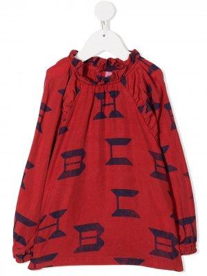 Блузка с логотипом Bobo Choses. Цвет: красный