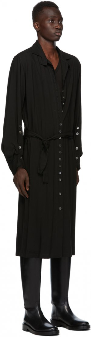 SSENSE Exclusive Black God of Wild Pippa Shirt Dress Ann Demeulemeester. Цвет: 099 black