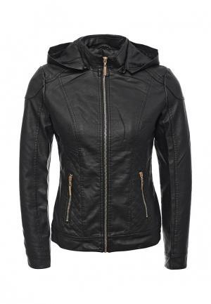 Куртка кожаная Adrixx JACKET. Цвет: черный