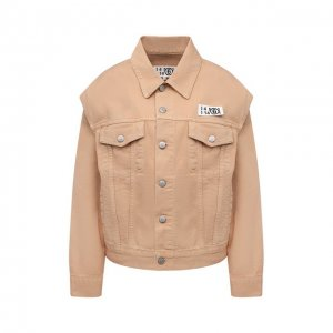 Джинсовая куртка Mm6. Цвет: бежевый