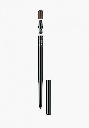 Карандаш для глаз Make Up Factory Automatic Eyeliner т.04 шоколадный черный, 0.31 г. Цвет: коричневый