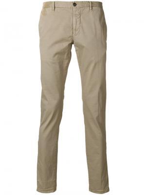 Классические брюки-чинос Incotex. Цвет: бежевый