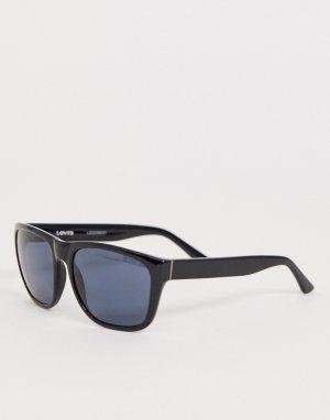 Черные солнцезащитные очки в квадратной оправе Levis-Черный Levi's