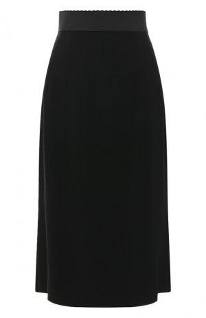 Юбка-миди Dolce & Gabbana. Цвет: чёрный
