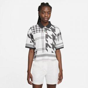 Женская рубашка-поло в клетку  Polo - Белый Nike