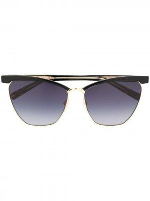 Солнцезащитные очки с эффектом градиента Missoni. Цвет: черный