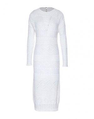 Платье до колена ALTEЯƎGO. Цвет: белый