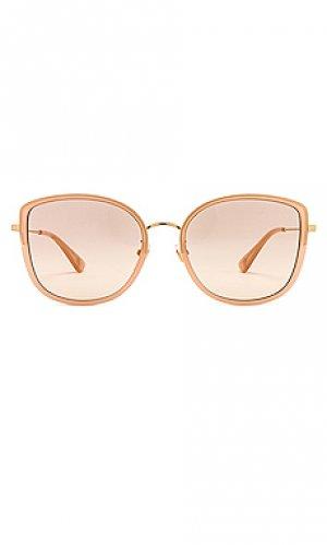 Солнцезащитные очки rounded square Gucci. Цвет: розовый