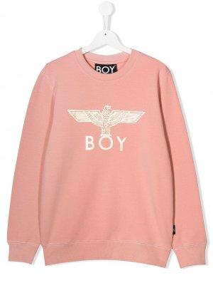 Толстовка с логотипом Boy London Kids. Цвет: розовый