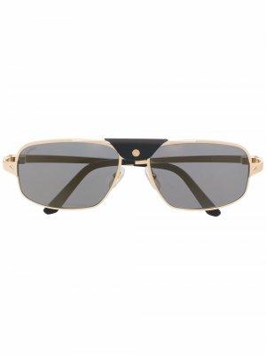 Солнцезащитные очки-авиаторы CT0295S Cartier Eyewear. Цвет: золотистый