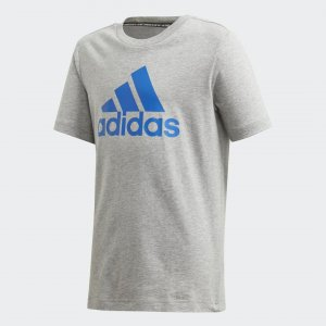 Футболка Must Haves Badge of Sport Performance adidas. Цвет: серый