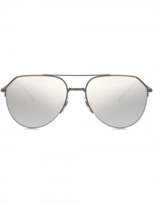 Солнцезащитные очки-авиаторы Dolce & Gabbana Eyewear. Цвет: серый