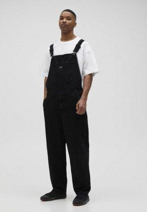 Комбинезон джинсовый Pull&Bear. Цвет: черный
