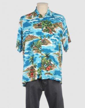 Рубашка с короткими рукавами KARMAKULA. Цвет: лазурный