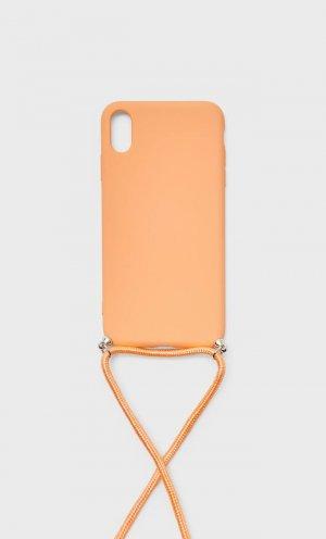 Чехол Для Iphone Xs Max Женская Коллекция Оранжево-Персиковый 103 Stradivarius. Цвет: оранжево-персиковый