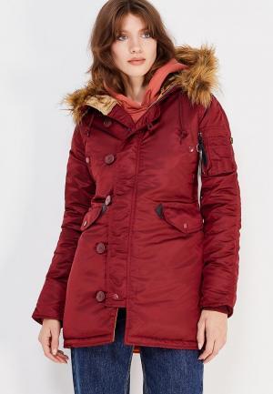 Куртка утепленная Alpha Industries N3B. Цвет: бордовый