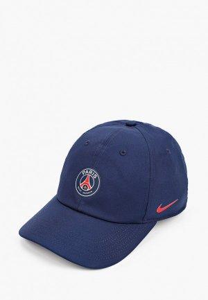 Бейсболка Nike PSG Y NK DRY H86 CAP. Цвет: синий