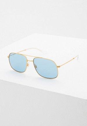 Очки солнцезащитные Ray-Ban® RB3595 901380. Цвет: золотой