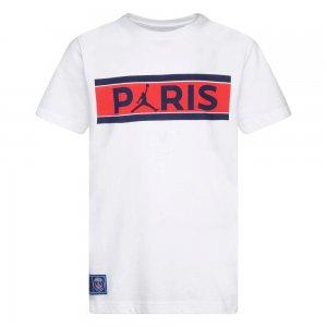 Paris Saint-Germain Bars Tee Jordan. Цвет: белый
