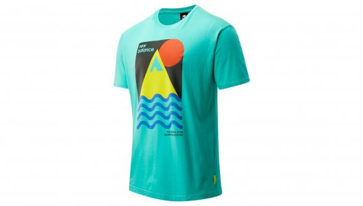 Футболки NB ATHLETICS TRAIL REVEL TEE New Balance. Цвет: голубой