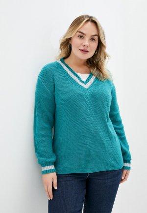 Пуловер Lacy. Цвет: бирюзовый
