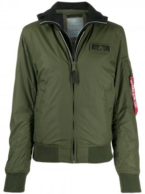 Бомбер MA-1 D-TEC Alpha Industries. Цвет: зеленый