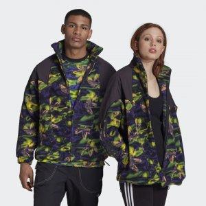 Флисовая олимпийка Big Trefoil Originals adidas. Цвет: разноцветный