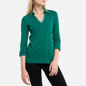 Блузка LaRedoute. Цвет: зеленый