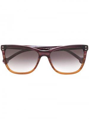 Солнцезащитные очки в оправе кошачий глаз Ch Carolina Herrera. Цвет: фиолетовый