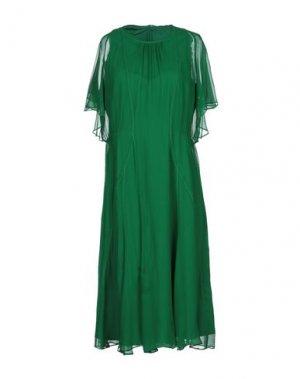 Платье миди DONNA KARAN. Цвет: изумрудно-зеленый